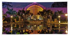 Botanical Building At Night In Balboa Park Beach Sheet