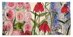 Botanical Wildflowers Beach Sheet by Laurie Rohner