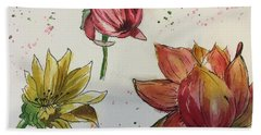 Beach Towel featuring the painting Botanicals by Lucia Grilletto
