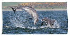 Bottlenose Dolphin - Moray Firth Scotland #49 Beach Towel