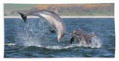 Beach Towel featuring the photograph Bottlenose Dolphin - Moray Firth Scotland #49 by Karen Van Der Zijden