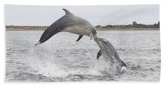 Bottlenose Dolphins - Scotland #1 Beach Sheet