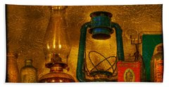 Bottles And Lamps Beach Towel