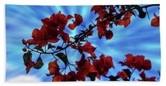 Bougainvillea At Joe's Secret Garden Iv Beach Sheet by Al Bourassa