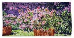 Bougainvillea Flower Pots Beverly Hills Beach Towel