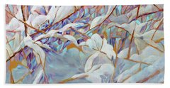 Beach Towel featuring the painting Boughs In Winter by Joanne Smoley