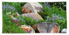 Boulder Blooms Beach Towel