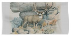 Boulder Buck  Beach Towel