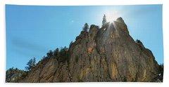 Beach Sheet featuring the photograph Boulder Canyon Narrows Pinnacle by James BO Insogna