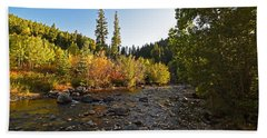 Boulder Colorado Canyon Creek Fall Foliage Beach Sheet