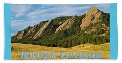 Beach Sheet featuring the photograph Boulder Colorado Poster 1 by James BO Insogna