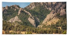 Beach Towel featuring the photograph Boulder Colorado Rocky Mountain Foothills by James BO Insogna
