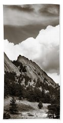 Large Cloud Over Flatirons Beach Sheet by Marilyn Hunt