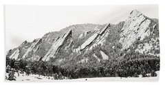 Boulder Flatirons Colorado 1 Beach Sheet