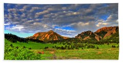 Boulder Spring Wildflowers Beach Towel by Scott Mahon