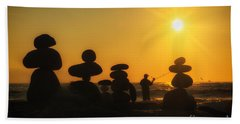 Boulders By The Sea Beach Towel