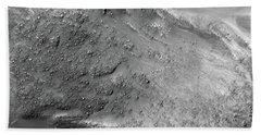 Beach Towel featuring the painting Boulders On A Martian Landslide by Artistic Panda