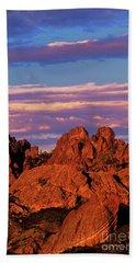 Boulders Sunset Light Pinnacles National Park Californ Beach Sheet by Dave Welling