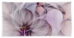 Beach Towel featuring the digital art Bound Away - Fractal Art by NirvanaBlues