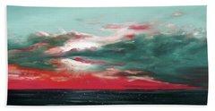 Bound Of Glory - Panoramic Sunset  Beach Towel