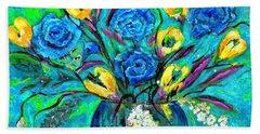 Bouquet In The Spirit Of Vincent Van Gogh By Lisa Kaiser Beach Sheet