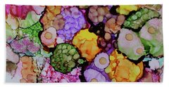 Beach Sheet featuring the painting Bouquet Of Blooms by Joanne Smoley