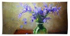 Bouquet Of Bluebells Beach Sheet