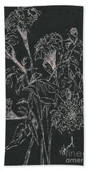 Beach Towel featuring the painting Bouquet Of Flowers  by Vicki  Housel