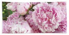 Bouquet Of Pink Peonies - Garden Peonies - Pink Shabby Chic Peony Prints Home Decor Beach Towel