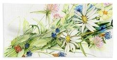 Bouquet Of Wildflowers Beach Sheet