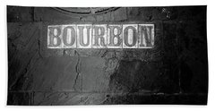 Bourbon In Black And White Beach Towel