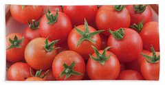 Beach Sheet featuring the photograph Bowl Of Cherry Tomatoes by James BO Insogna
