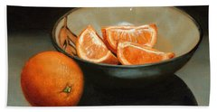 Bowl Of Oranges Beach Sheet