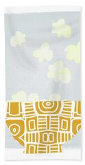 Bowl Of Popcorn- Art By Linda Woods Beach Towel