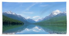 Bowman Lake Mt Beach Towel
