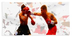 Beach Sheet featuring the painting Boxing 113 by Movie Poster Prints