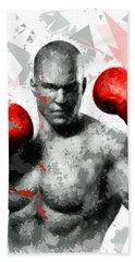 Beach Towel featuring the painting Boxing 114 by Movie Poster Prints