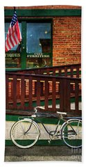 Bozeman Antique Bicycle Beach Towel by Craig J Satterlee