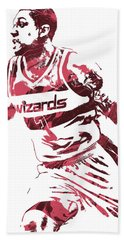 Bradley Beal Washington Wizards Pixel Art 3 Beach Towel