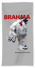 Brahma Breeders Rock Red Beach Towel