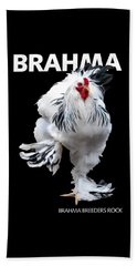 Brahma Breeders Rock T-shirt Print Beach Towel