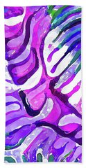 Brain Coral Abstract 4 In Purple Beach Sheet