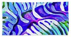Brain Coral Abstract 5 In Blue Beach Sheet