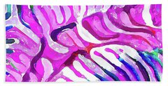 Brain Coral Abstract 7 In Pink Beach Towel