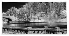 Beach Towel featuring the photograph Branch Brook Park New Jersey Ir by Susan Candelario