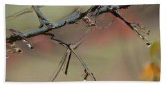 Branch With Water Abstract Beach Towel