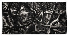 Branches In Monochrome Beach Towel