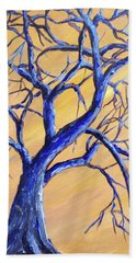 Branches Of Blue Beach Towel
