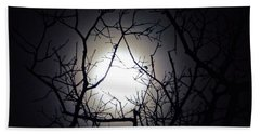 Branches To The Moon Beach Towel
