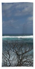 Branches Waves And Sky Beach Towel
